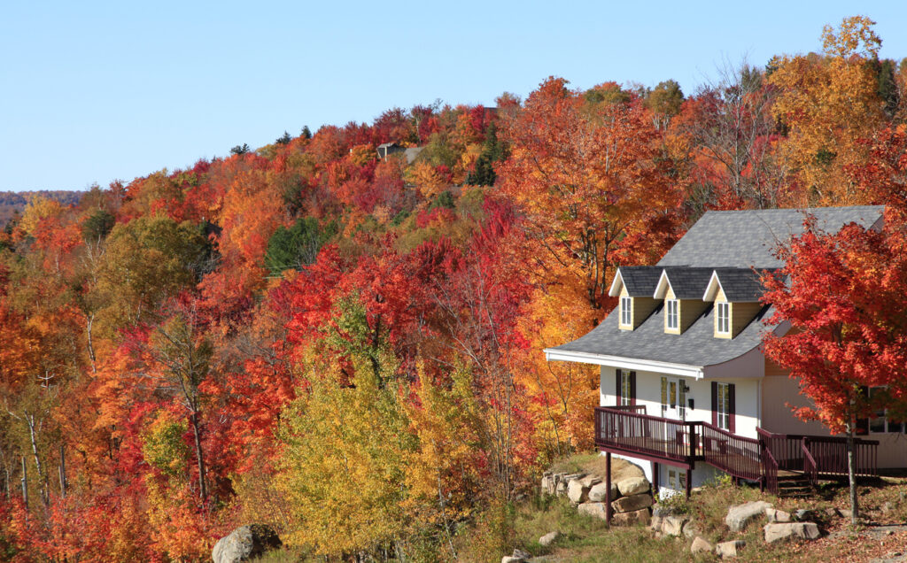 Villa in autumn, Mont Tremblant, Quebec, Canada - getting your home ready for Fall